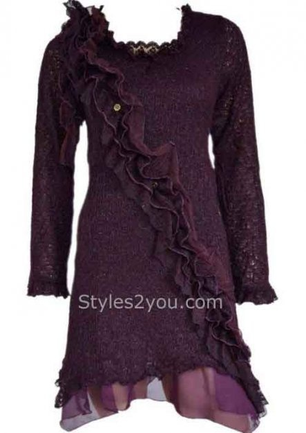 Pretty Angel Clothing Cabernet Shirt Dress In Deep Purple  Bought at Sea of Silver and Sass. Love that shoppe and all the Pretty Angel clothes.