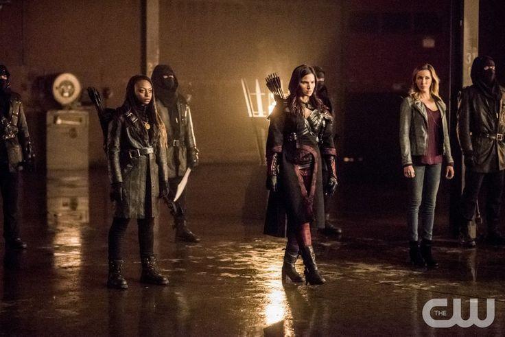 "#Arrow 4x13 ""Sins of the Father"" - Talibah (star, Natasha Gayle), Nyssa al Ghul and Laurel"