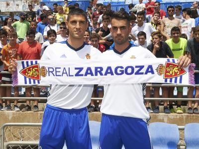 Simone Grippo y Alain Oyarzun, con la ambición de crecer con el Real Zaragoza   Real Zaragoza Web Oficial