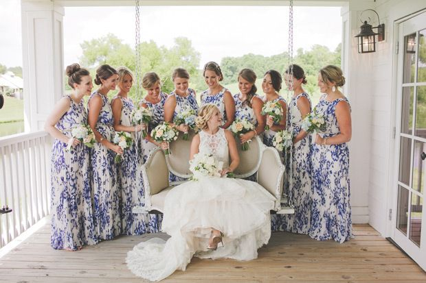 Beautiful blue-hued wedding at Mint Springs Farm by Teale Photography | See the rest of this incredible wedding over on www.onefabday.com