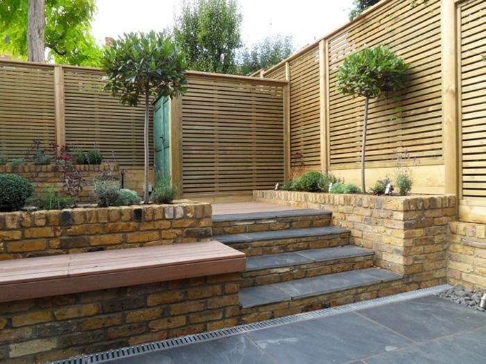 11 best images about riven step treads off the shelf on for Blue slate garden designs