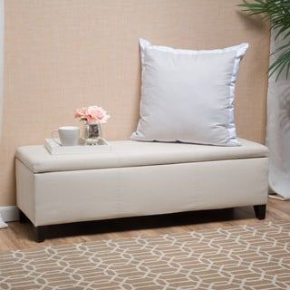 Shop for Lucinda Fabric Storage Ottoman Bench by Christopher Knight Home. Get free shipping at Overstock.com - Your Online Furniture Outlet Store! Get 5% in rewards with Club O! - 18426998