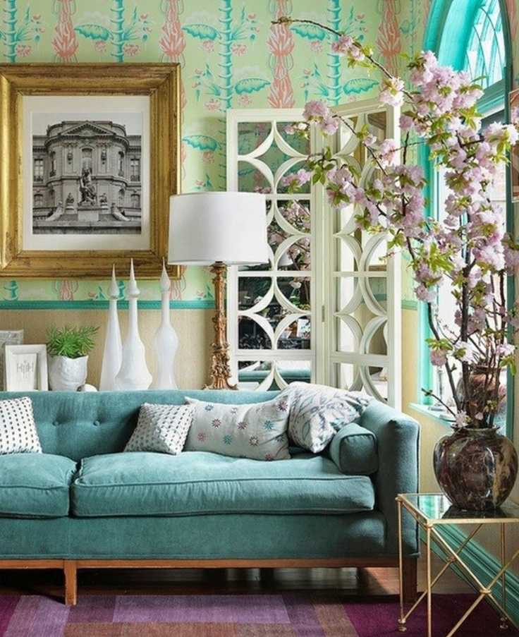 Gorgeous spring colours and decor touches  # inscapes design