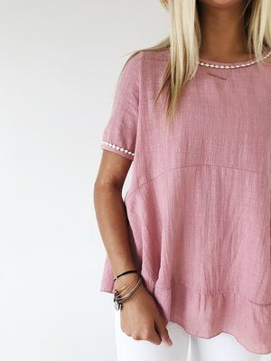 Embroidered Summer Peplum | ROOLEE