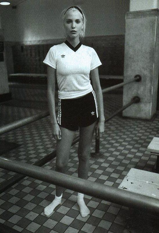 "vogue italia january 1994 ""ginnico""  nadja auermann photographed by steven meisel"