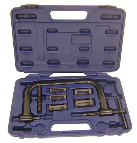 Pit Posse PP2563 Motorcycle ATV Car Valve Spring Compressor Tool           $ 38.95 Motorcycle & ATV Product Features Pit Posse POSSE VALVE SPRING COMPRESSOR PP2563 N/A 3 Motorcycle & ATV Product Description Heavy-duty construction, economical priced – Comes with 16mm, 19mm, 23mm, 25mm, 30mm collars – Carrying case included – Max. opening 130mm – Max. depth 100mm  http://www.liveautomotive.com/pit-posse-pp2563-motorcycle-atv-car-valve-spring-compressor-tool/