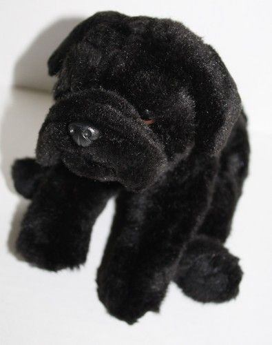 black pug stuffed animal animal alley dog black pug 10 quot soft plush stuffed animal 5535