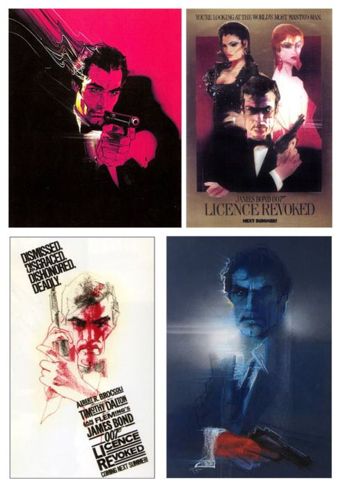 "Bob Peak's unused art for ""Licence to Kill"" (titled Licence Revoked at the time)"