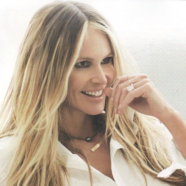 Our classic Rectangle ring spotted on Elle Macpherson in the August issue of @redmagazine #dianekordas #diamonds #shapering #redmagazine #elle