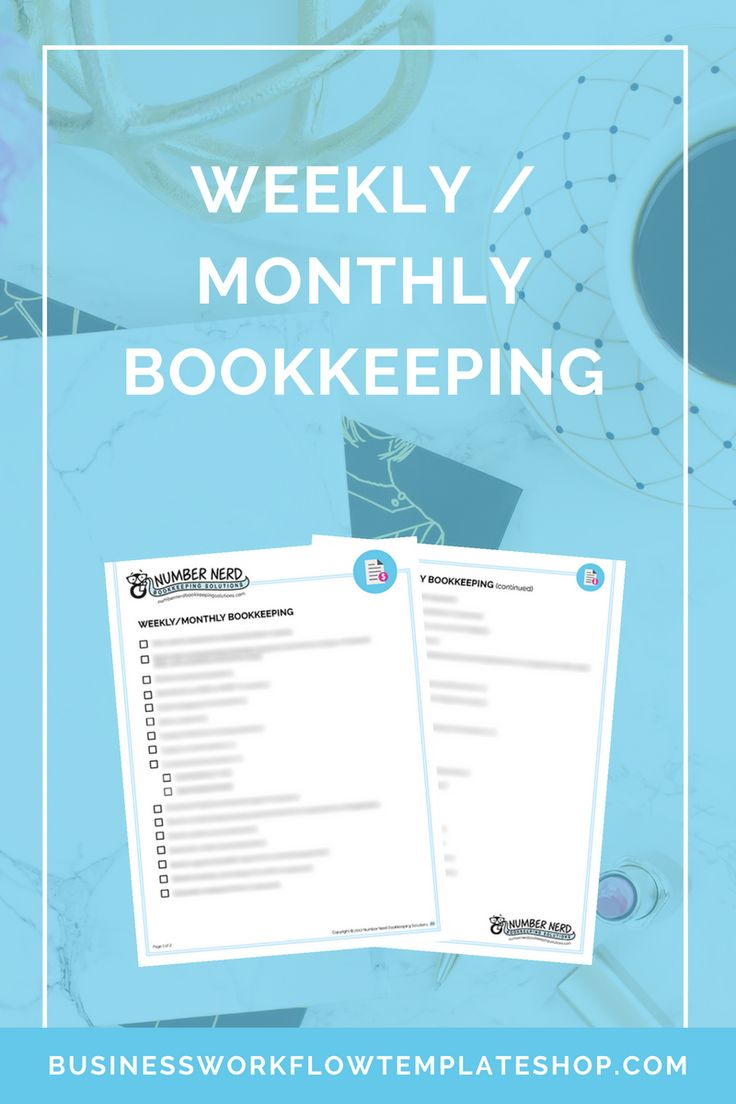 Weekly / Monthly Bookkeeping Bookkeeping business, Book