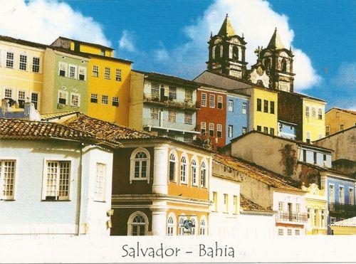 Postcard of Salvador in Bahia, Brazil