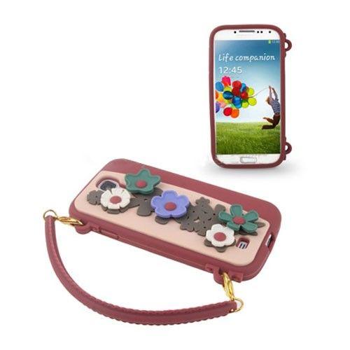 Bloemen Tas (Rood) Samsung Galaxy S4 Hoesje