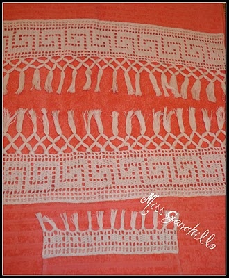 "Crochet - Toallas ""Cenefa flecos"""