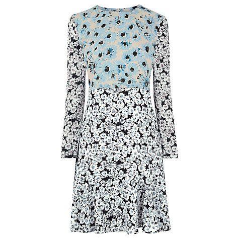 Buy Warehouse Daisy Flippy Dress, Multi Online at johnlewis.com
