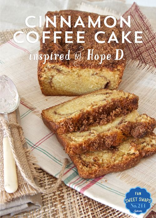 Wake up to a delicious SWEET SWAPS™Recipe, like this Cinnamon Coffee Cake recipe that swaps SPLENDA®Sweeteners for full sugar, inspired by...