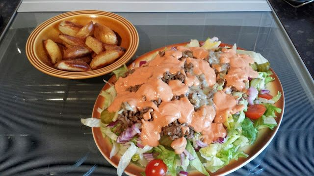 A World Of Slimming Recipes: Burger In A Bowl