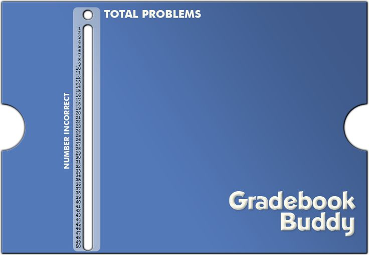 "Gradebook Buddy - The sliding online grader for teachers. This is for people like me that always ""misplace"" theirs."