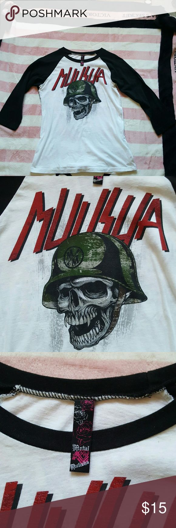 Metal mulisha 3/4 sleeve shirt Never worn metal mulisha  Tops