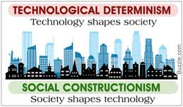 Comparison between technological determinism and social constructionism
