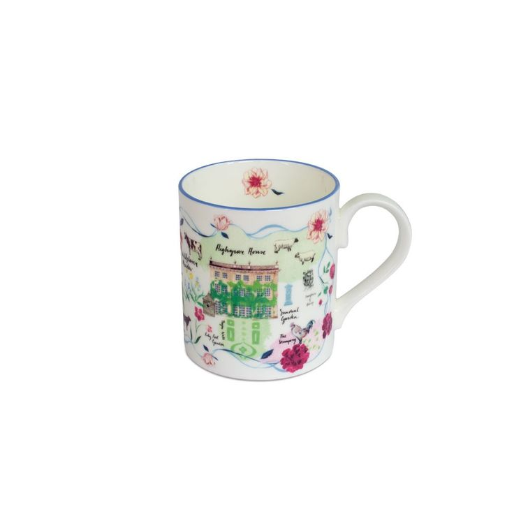 Buy the Highgrove Garden Plan Mug | Highgrove Garden & Shops