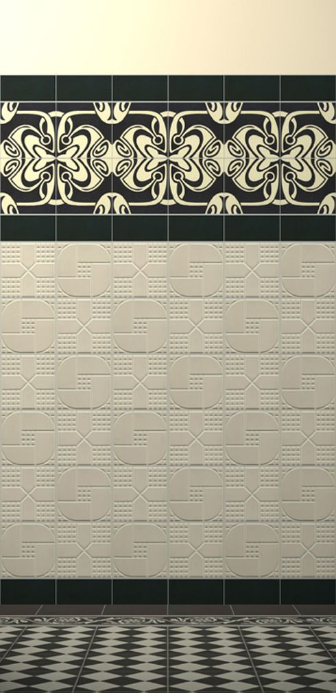 25 best ideas about ceramic tile art on pinterest for Art nouveau bathroom design
