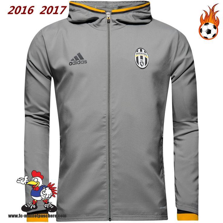 Faibles Ventes Veste Juventus Gris Seson 16-17 Replica
