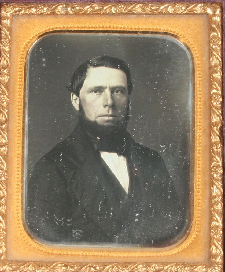 Daguerreotype Man with Chin Beard Tinted 1 9th Plate Union Geometric Case | eBay
