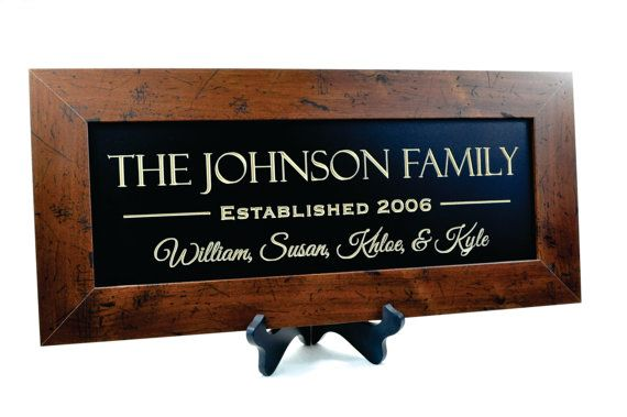 Personalized Family Name Sign Plaque by mrcwoodproducts on Etsy, $46.00