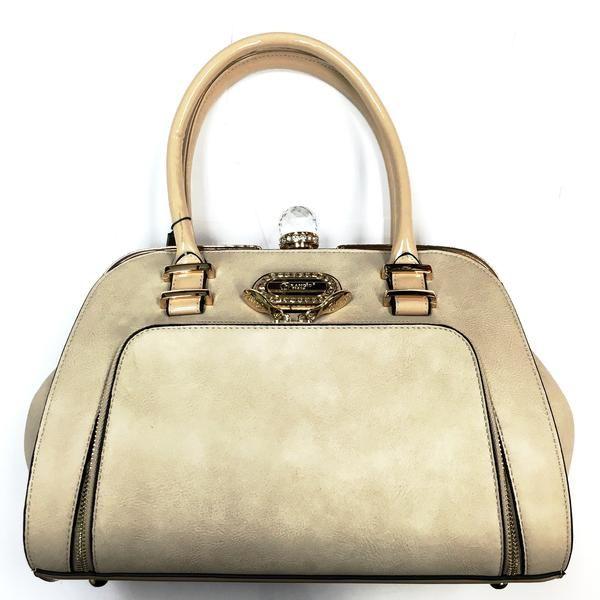 $89.99 - Brangio Italian Premium Leather Dome Gem Handbag