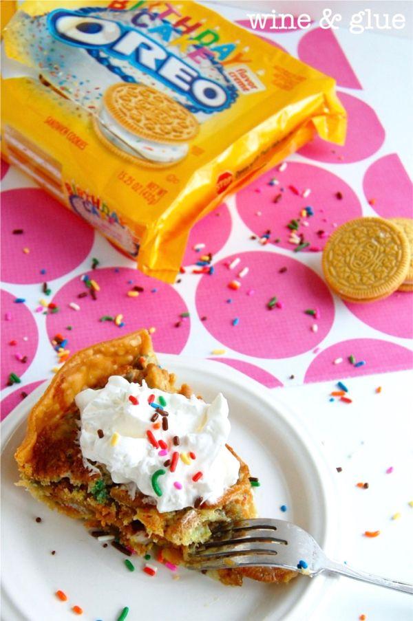 Tremendous Oreo Cookie Birthday Cake Pie Recipe The Frugal Girls Made For Birthday Cards Printable Trancafe Filternl