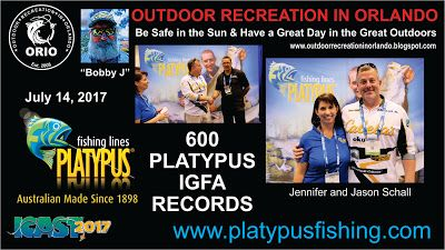 Outdoor Recreation In Orlando: Platypus Fishing Lines at 2017 ICAST