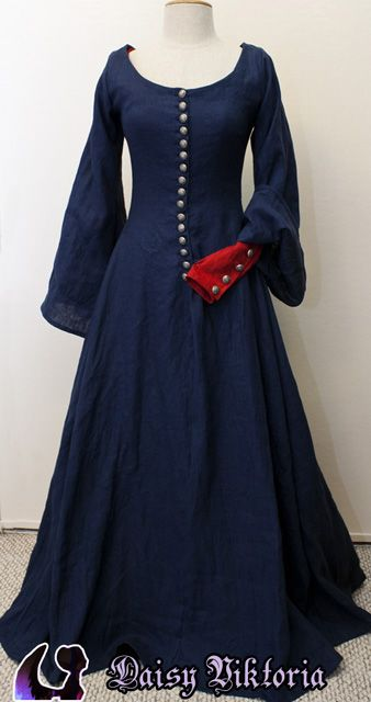 Cotehardie - Bonus: It's the same gown as Miranda's wearing in the Tempest painting by John William Waterhouse