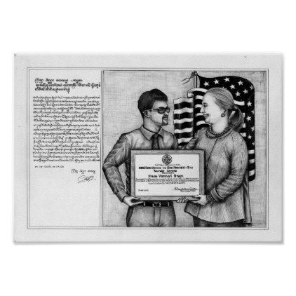 Dead Eye Poster of Vannak and Hillary Clinton 1 - diy & cyo customize
