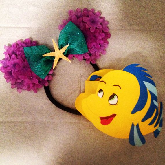 Ariel inspired mickey mouse ears by Mousehouseboutique on Etsy