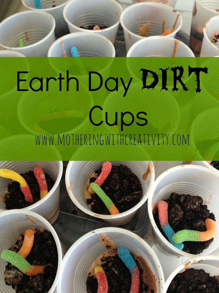 Earth Day Dirt Cups! Fun and simple kids activity.  Mothering with Creativity