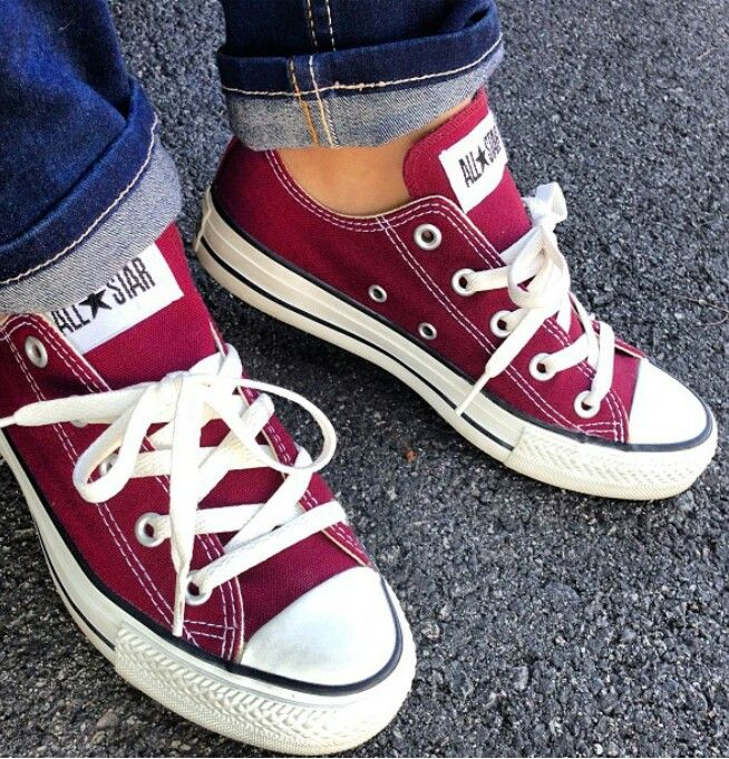 wine colored converse