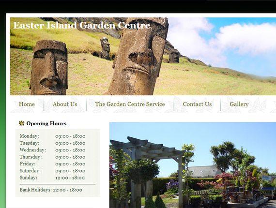 Easter Island garden centre - Web development - Brand You