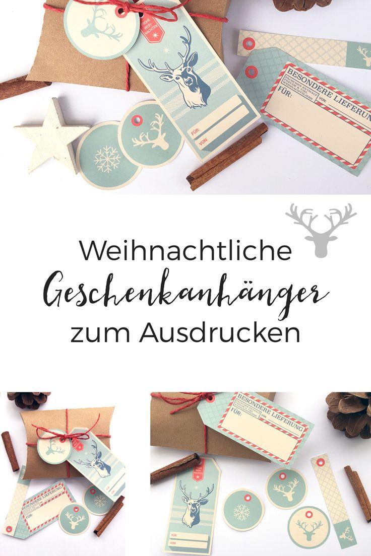 ***FREEBIE*** Diese Geschenkanhänger könnt ihr euch kostenlos auf unserem Blog herunterladen könnt. Viel Weihnachtsfreude euch allen!
