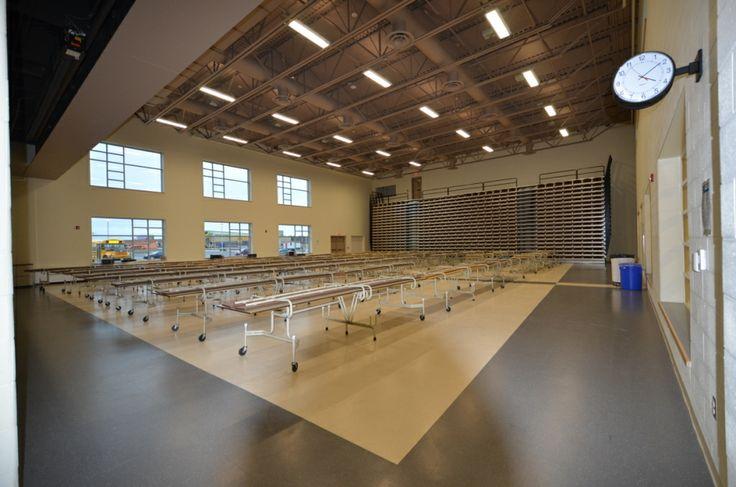 School Quot Cafetorium Quot With A 500 Seater Retractable Bleacher