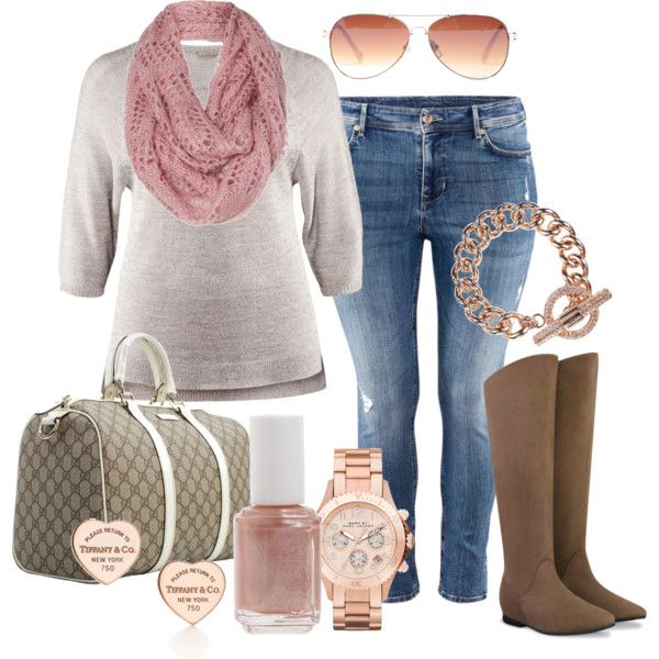 """""""Rose Gold - Plus Size"""" by alexawebb on Polyvore"""