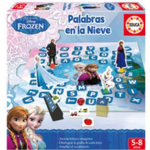 Palabras en la nieve, juego de mesa de Fronzen.