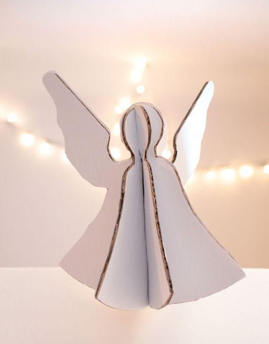 angel: Cardboard Angel, Papercraft Christmas, Christmas Crafts, Christmas Angel, Crafts Angel, Angel Patterns, Christmas Decor, Christmas Ideas, Paper Crafts