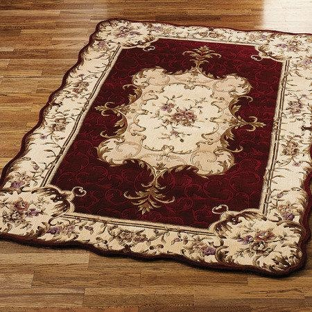 Victorian rug to put on the thrust and set the stage. Makes it appear more like a home.