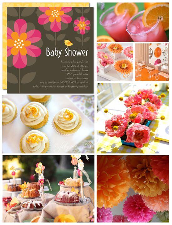 Flower Baby Shower Inspiration Board