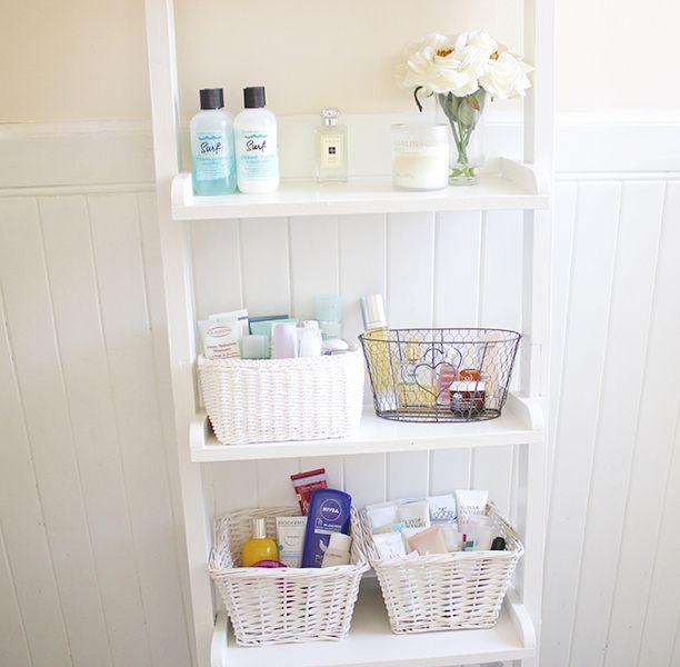1000 Ideas About White Ladder Shelf On Pinterest Bathroom Ladder Shelf Bathroom Ladder And