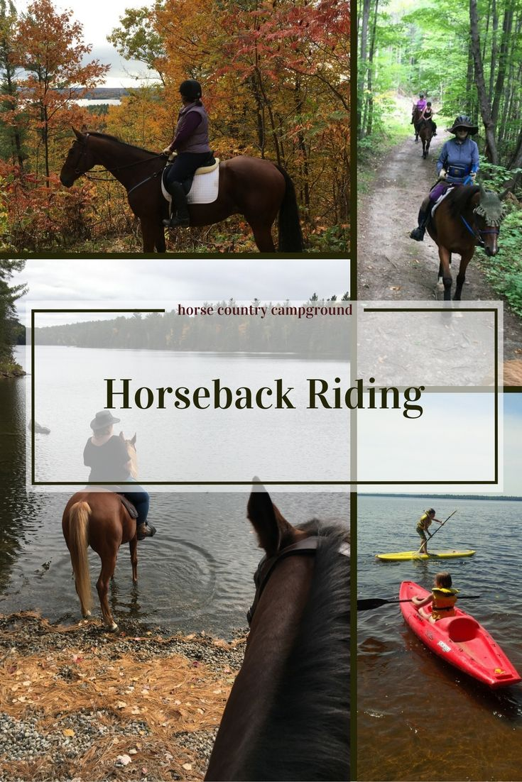 horsebackriding at #horsecountrycampground over 50+ kms of trails in the Ottawa Valley!
