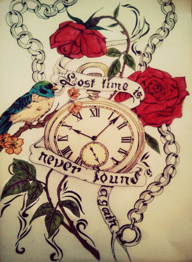 Lost time is never found again by tattoo-love-forever.deviantart.com on @DeviantArt