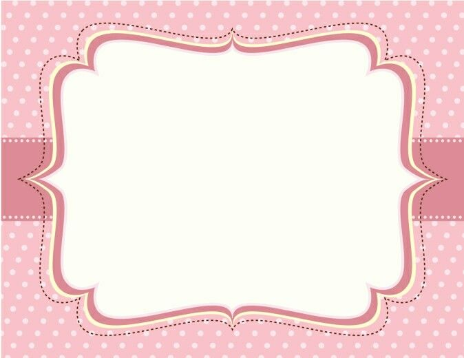Etiqueta baby shower niña rosa