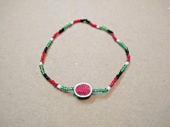 Check out this item in my Etsy shop https://www.etsy.com/listing/546768659/watermelon-braceletsummer-braceletmixed