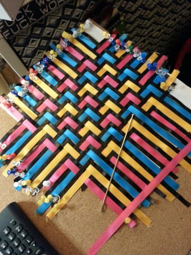 """Triaxial Ribbon Weaving - where I find my """"happy place""""!"""